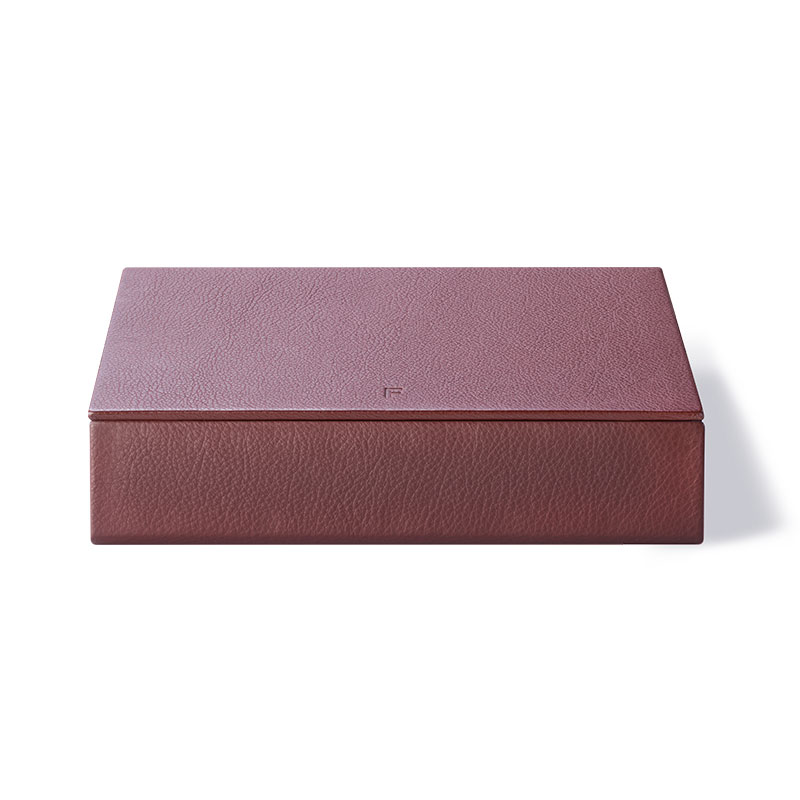 Fredericia Leather Box by August Sandgren Olson and Baker - Designer & Contemporary Sofas, Furniture - Olson and Baker showcases original designs from authentic, designer brands. Buy contemporary furniture, lighting, storage, sofas & chairs at Olson + Baker.