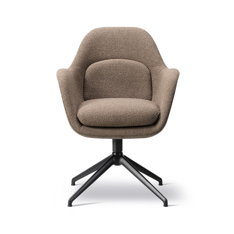 Fredericia Swoon Chair with Swivel Base by Space Copenhagen Olson and Baker - Designer & Contemporary Sofas, Furniture - Olson and Baker showcases original designs from authentic, designer brands. Buy contemporary furniture, lighting, storage, sofas & chairs at Olson + Baker.