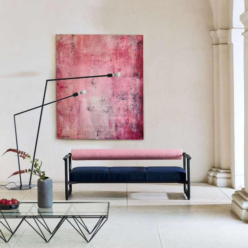Magis Brut Three Seat Sofa by Konstantin Grcic Olson and Baker - Designer & Contemporary Sofas, Furniture - Olson and Baker showcases original designs from authentic, designer brands. Buy contemporary furniture, lighting, storage, sofas & chairs at Olson + Baker.