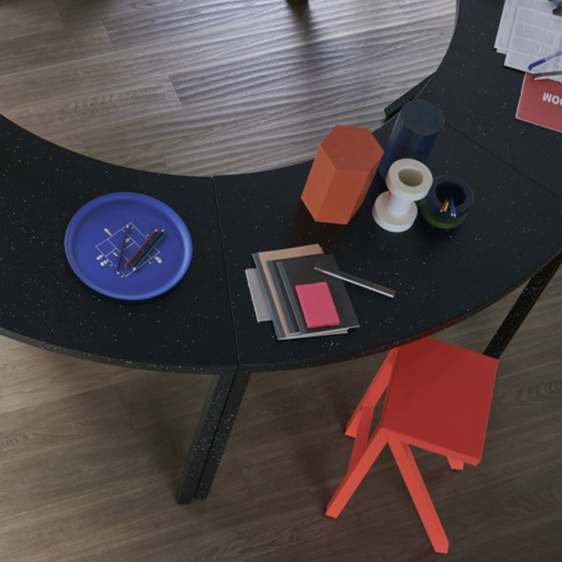 Magis_Bureaurama_Curved_Table_by_Jerszy_Seymour_Lifeshot_02 Olson and Baker - Designer & Contemporary Sofas, Furniture - Olson and Baker showcases original designs from authentic, designer brands. Buy contemporary furniture, lighting, storage, sofas & chairs at Olson + Baker.