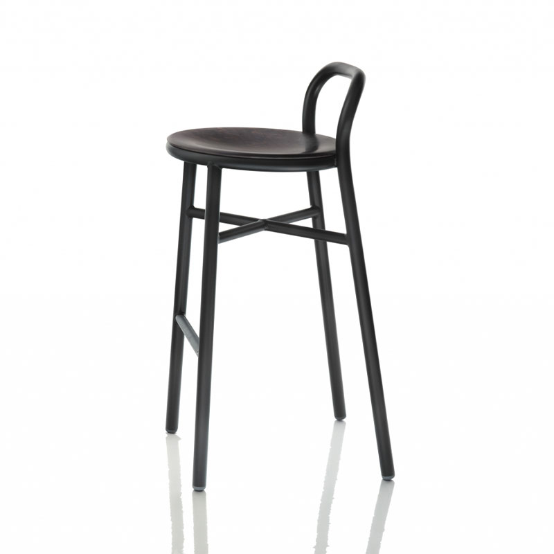 Magis Pipe High Bar Stool by Jasper Morrison Olson and Baker - Designer & Contemporary Sofas, Furniture - Olson and Baker showcases original designs from authentic, designer brands. Buy contemporary furniture, lighting, storage, sofas & chairs at Olson + Baker.
