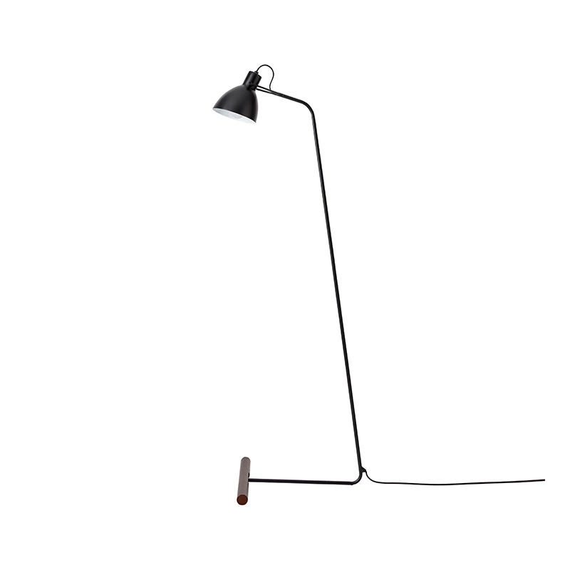 Aromas Aito Floor Lamp in Matt Black by Pepe Fornas Olson and Baker - Designer & Contemporary Sofas, Furniture - Olson and Baker showcases original designs from authentic, designer brands. Buy contemporary furniture, lighting, storage, sofas & chairs at Olson + Baker.