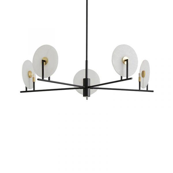 Erto 5 Pendant Lamp in Matt Black