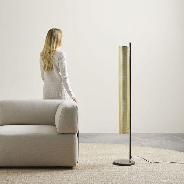 Fito Floor Lamp in Matt Brass