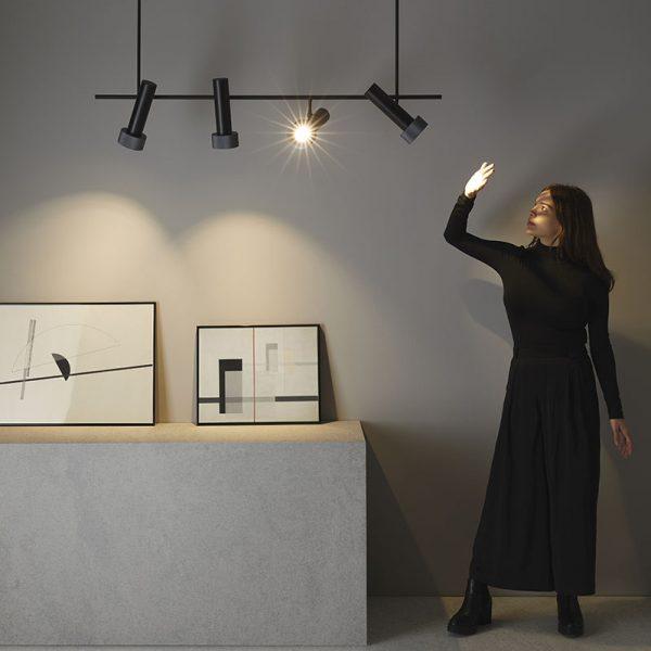 Focus Pendant Lamp in Matt Black and Anthracite