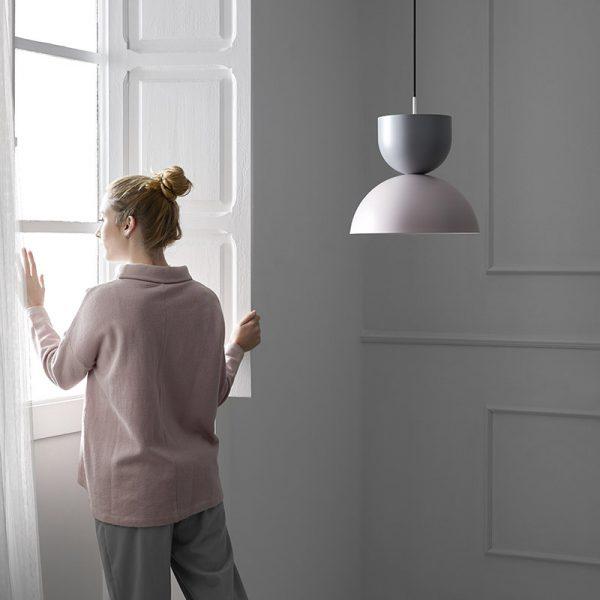 Gamma Pendant Lamp in Ash Grey