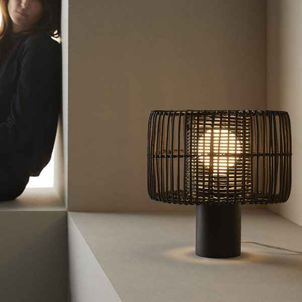 Hedula Table Lamp in Black Set of Two