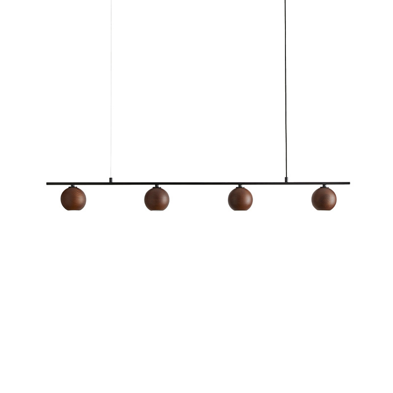 Aromas Lita Pendant Light in Matt Black and Walnut by Pepe Fornas Olson and Baker - Designer & Contemporary Sofas, Furniture - Olson and Baker showcases original designs from authentic, designer brands. Buy contemporary furniture, lighting, storage, sofas & chairs at Olson + Baker.