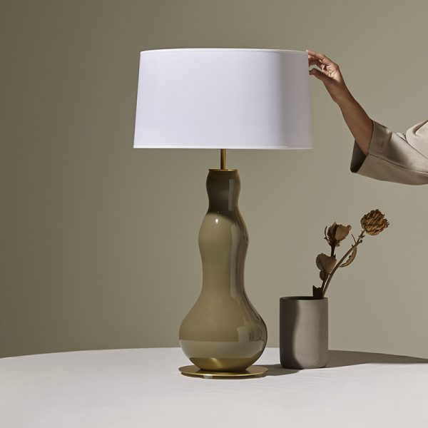 Melly Table Lamp in Chrome Set of Two
