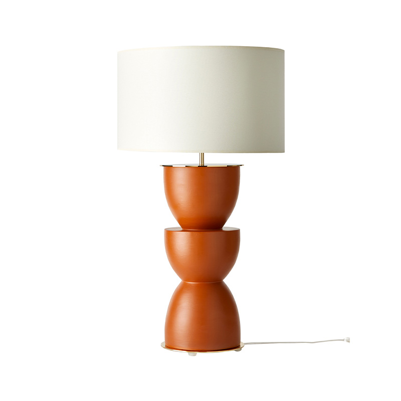 Aromas Metric Table Lamp in Tile Set of Two by Pepe Fornas Olson and Baker - Designer & Contemporary Sofas, Furniture - Olson and Baker showcases original designs from authentic, designer brands. Buy contemporary furniture, lighting, storage, sofas & chairs at Olson + Baker.