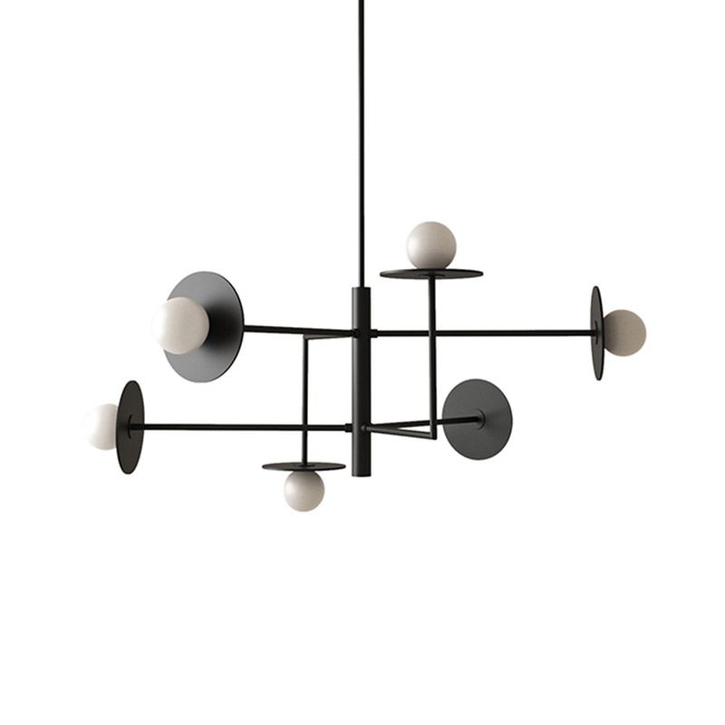 Aromas Miro Pendant Lamp with Opal Glass Shades by AC Studio Olson and Baker - Designer & Contemporary Sofas, Furniture - Olson and Baker showcases original designs from authentic, designer brands. Buy contemporary furniture, lighting, storage, sofas & chairs at Olson + Baker.