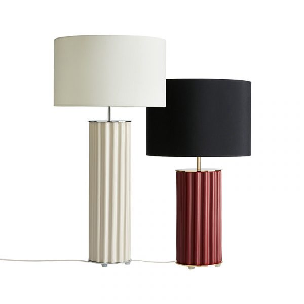 Onica Table Lamp in Taupe Set of Two