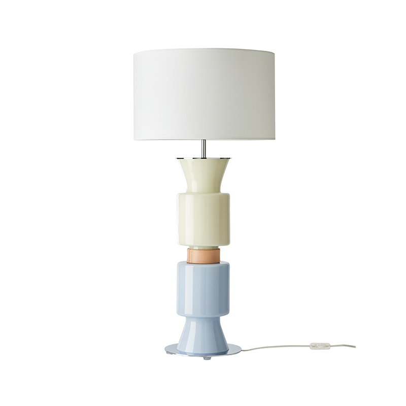 Aromas Ponn Ponn Table Lamp in Chrome by AC Studio Olson and Baker - Designer & Contemporary Sofas, Furniture - Olson and Baker showcases original designs from authentic, designer brands. Buy contemporary furniture, lighting, storage, sofas & chairs at Olson + Baker.