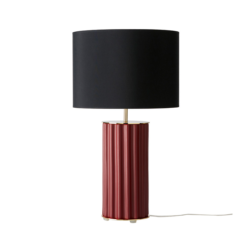 Aromas Sonica Table Lamp in Maroon Set of Two by AC Studio Olson and Baker - Designer & Contemporary Sofas, Furniture - Olson and Baker showcases original designs from authentic, designer brands. Buy contemporary furniture, lighting, storage, sofas & chairs at Olson + Baker.