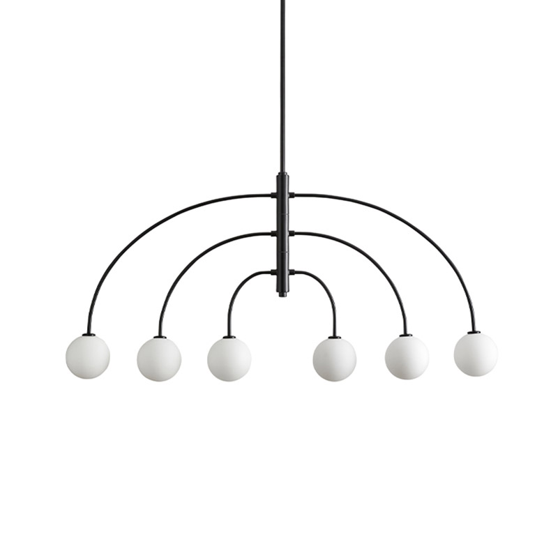 Aromas Sonn Pendant Light with Opal Glass Shades by JF Sevilla Olson and Baker - Designer & Contemporary Sofas, Furniture - Olson and Baker showcases original designs from authentic, designer brands. Buy contemporary furniture, lighting, storage, sofas & chairs at Olson + Baker.