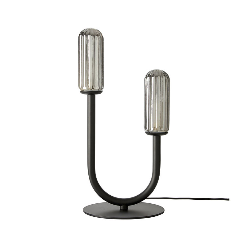 Aromas Unco Table Lamp in Matt Black Set of Two by Pepe Fornas Olson and Baker - Designer & Contemporary Sofas, Furniture - Olson and Baker showcases original designs from authentic, designer brands. Buy contemporary furniture, lighting, storage, sofas & chairs at Olson + Baker.
