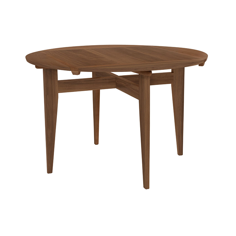 Gubi B-Table Ø116cm Round Table by Marcel Gascoin Olson and Baker - Designer & Contemporary Sofas, Furniture - Olson and Baker showcases original designs from authentic, designer brands. Buy contemporary furniture, lighting, storage, sofas & chairs at Olson + Baker.