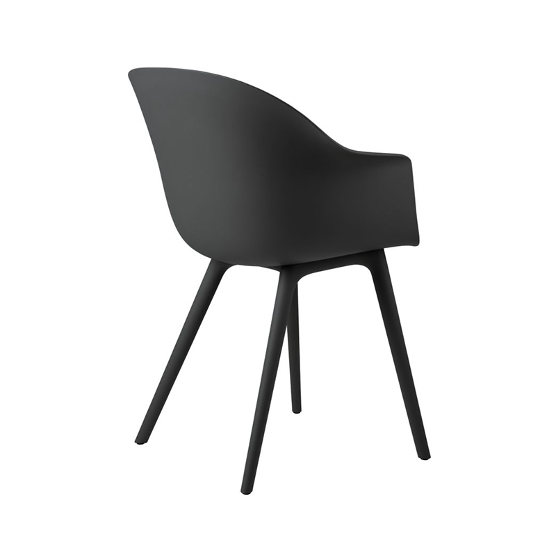 Gubi Bat Plastic Dining Chair by GamFratesi Olson and Baker - Designer & Contemporary Sofas, Furniture - Olson and Baker showcases original designs from authentic, designer brands. Buy contemporary furniture, lighting, storage, sofas & chairs at Olson + Baker.