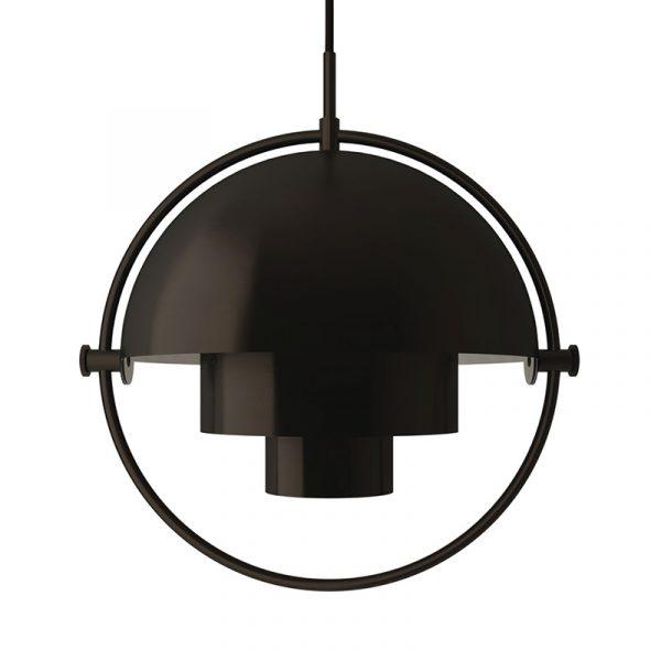 Multi-Lite Ø25.5cm Pendant Light in Black Brass