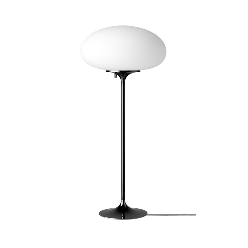 Gubi_Stemlite_Table_Lamp_by_Bill_Curry_70cm_Black_Chrome_Off Olson and Baker - Designer & Contemporary Sofas, Furniture - Olson and Baker showcases original designs from authentic, designer brands. Buy contemporary furniture, lighting, storage, sofas & chairs at Olson + Baker.