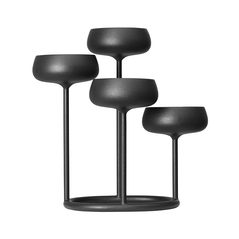Iittala Nappula Dark Grey 251x263mm Candelabra – Set of Two by Matti Klenell Olson and Baker - Designer & Contemporary Sofas, Furniture - Olson and Baker showcases original designs from authentic, designer brands. Buy contemporary furniture, lighting, storage, sofas & chairs at Olson + Baker.