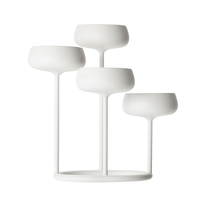 Iittala Nappula White 251x263mm Candelabra – Set of Two by Matti Klenell Olson and Baker - Designer & Contemporary Sofas, Furniture - Olson and Baker showcases original designs from authentic, designer brands. Buy contemporary furniture, lighting, storage, sofas & chairs at Olson + Baker.