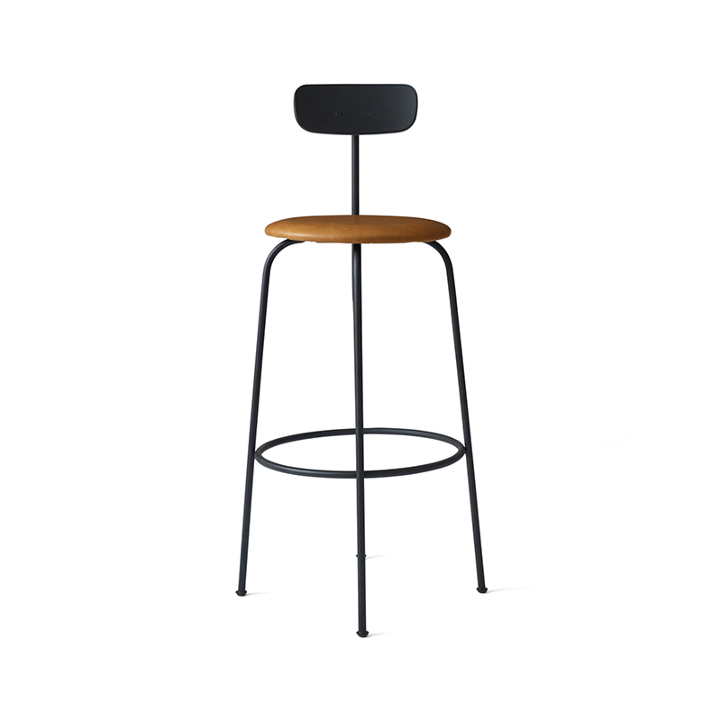 Menu Afteroom Bar Stool with Upholstered Seat by Afteroom Olson and Baker - Designer & Contemporary Sofas, Furniture - Olson and Baker showcases original designs from authentic, designer brands. Buy contemporary furniture, lighting, storage, sofas & chairs at Olson + Baker.