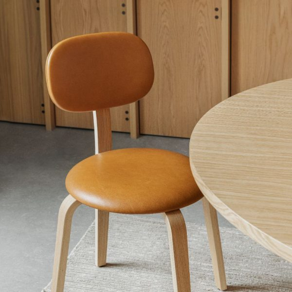 Afteroom Plywood Dining Chair with Upholstered Seat