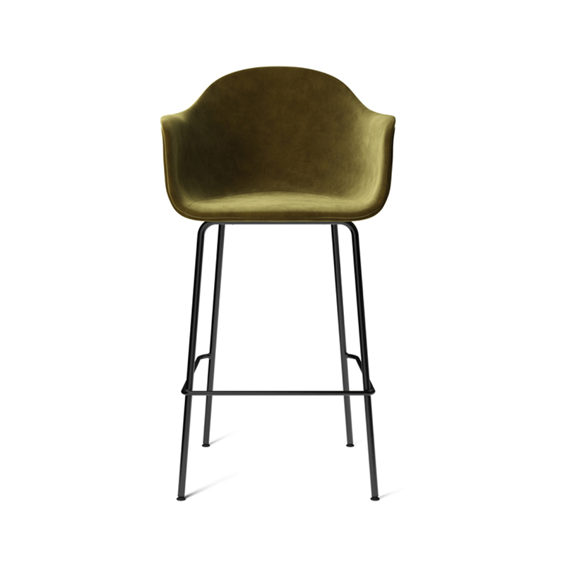 Menu Harbour Fully Upholstered High Bar Stool by Norm Architects Olson and Baker - Designer & Contemporary Sofas, Furniture - Olson and Baker showcases original designs from authentic, designer brands. Buy contemporary furniture, lighting, storage, sofas & chairs at Olson + Baker.