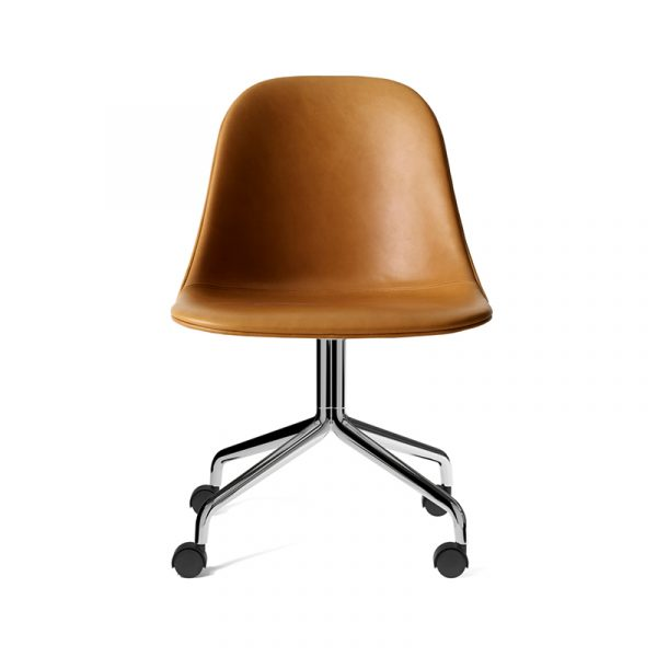 Harbour Fully Upholstered Side Chair with Four Star Base on Castors