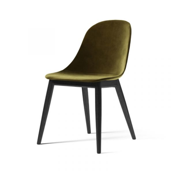 Harbour Fully Upholstered Dining Side Chair with Wooden Base