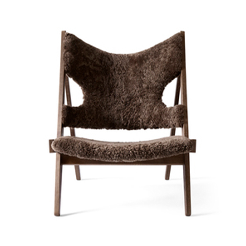 Menu Knitting Lounge Chair in Sheepskin by Ib Kofod-Larsen Design Olson and Baker - Designer & Contemporary Sofas, Furniture - Olson and Baker showcases original designs from authentic, designer brands. Buy contemporary furniture, lighting, storage, sofas & chairs at Olson + Baker.