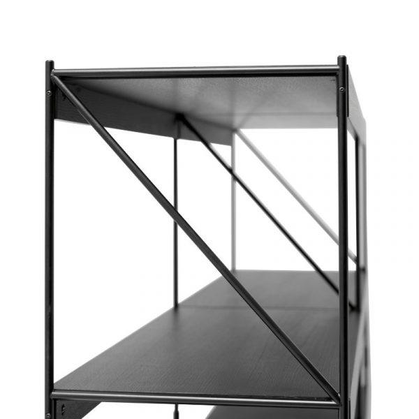 Zet Two Rack Shelving System in Black