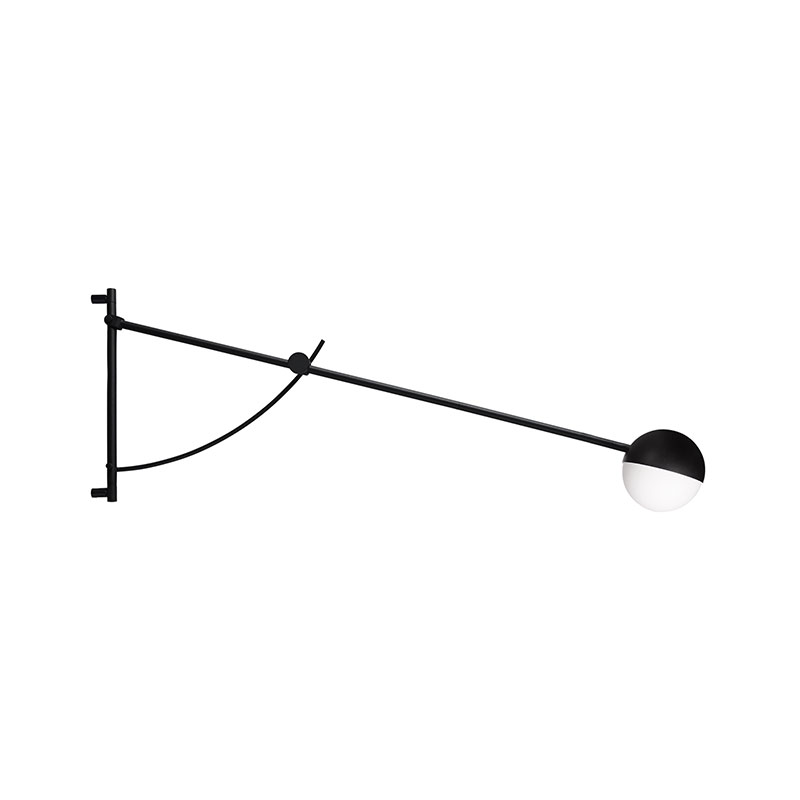 Northern Balancer Wall Lamp in Black by Yuue Olson and Baker - Designer & Contemporary Sofas, Furniture - Olson and Baker showcases original designs from authentic, designer brands. Buy contemporary furniture, lighting, storage, sofas & chairs at Olson + Baker.