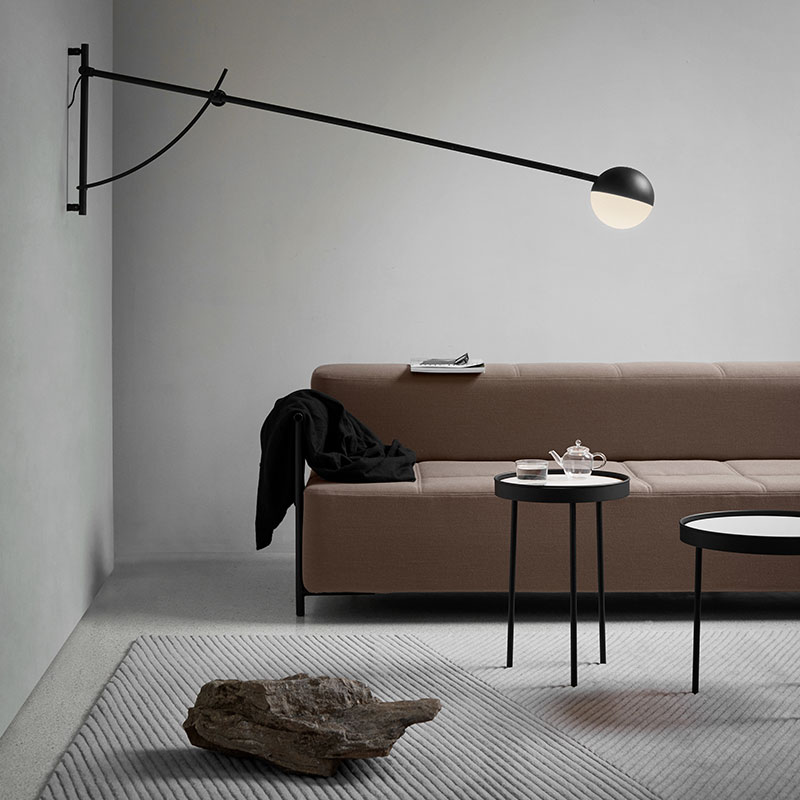 Northern_Balancer_Wall_Lamp_Black_by_Yuue_Lifeshot_01 Olson and Baker - Designer & Contemporary Sofas, Furniture - Olson and Baker showcases original designs from authentic, designer brands. Buy contemporary furniture, lighting, storage, sofas & chairs at Olson + Baker.