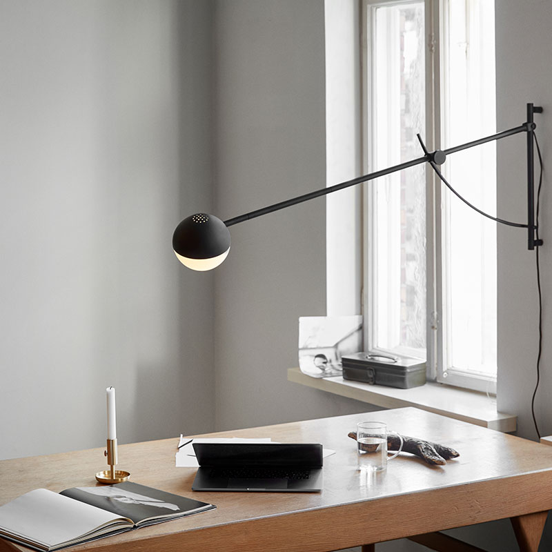 Northern_Balancer_Wall_Lamp_Black_by_Yuue_Lifeshot_02 Olson and Baker - Designer & Contemporary Sofas, Furniture - Olson and Baker showcases original designs from authentic, designer brands. Buy contemporary furniture, lighting, storage, sofas & chairs at Olson + Baker.