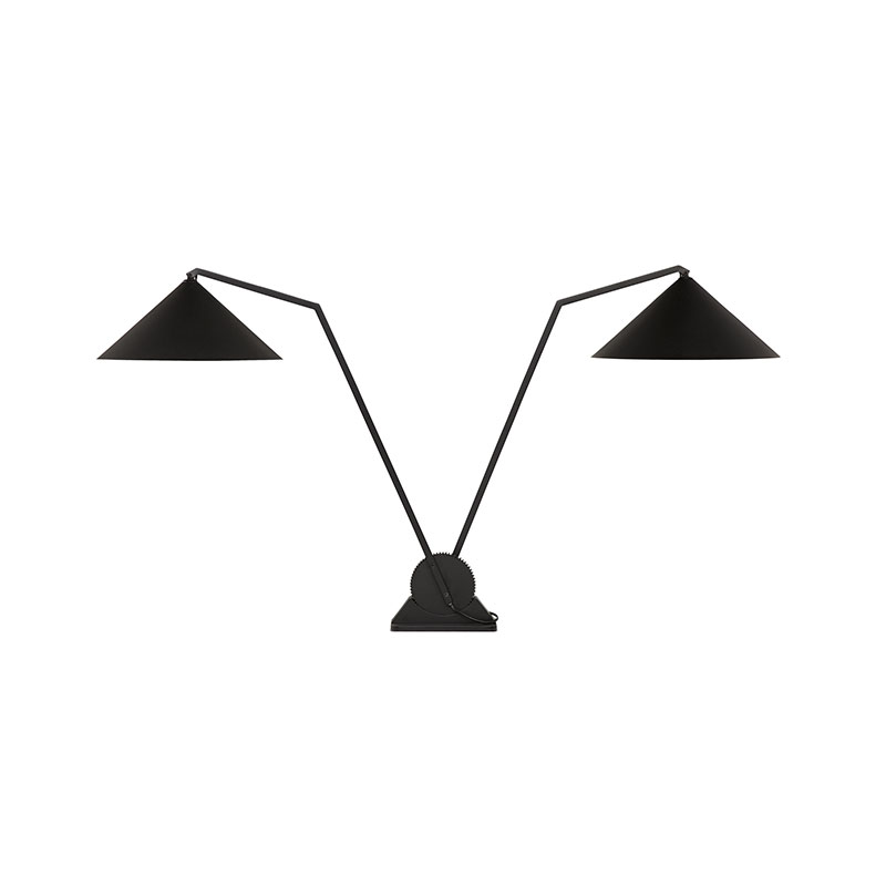 Northern Gear Double Table Lamp in Black by Johan Lindstén Olson and Baker - Designer & Contemporary Sofas, Furniture - Olson and Baker showcases original designs from authentic, designer brands. Buy contemporary furniture, lighting, storage, sofas & chairs at Olson + Baker.