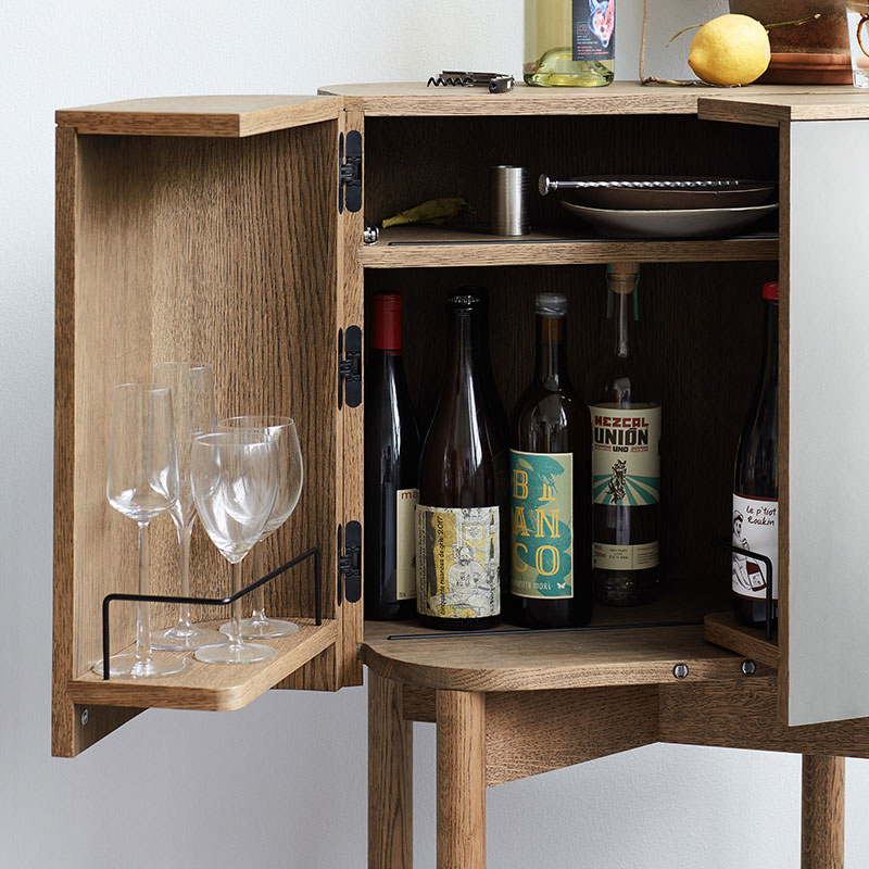 Northern_Loud_Bar_Cabinet_by_Farg_and_Blanche_Lifeshot_02 Olson and Baker - Designer & Contemporary Sofas, Furniture - Olson and Baker showcases original designs from authentic, designer brands. Buy contemporary furniture, lighting, storage, sofas & chairs at Olson + Baker.