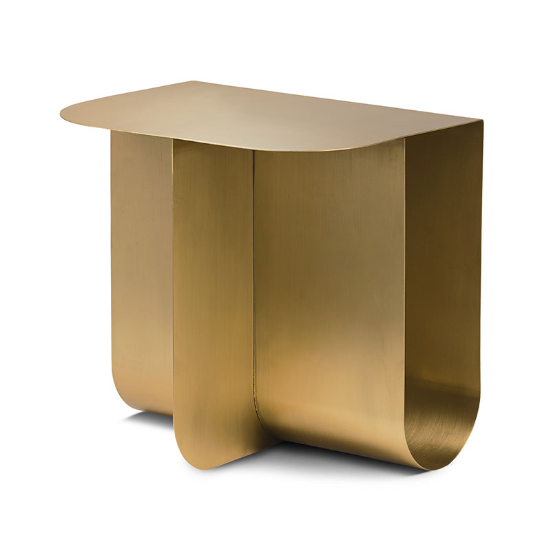Northern Mass Side Table in Solid Brass by Roee Magdassi Olson and Baker - Designer & Contemporary Sofas, Furniture - Olson and Baker showcases original designs from authentic, designer brands. Buy contemporary furniture, lighting, storage, sofas & chairs at Olson + Baker.