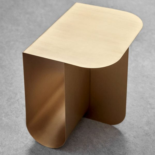 Mass Side Table in Solid Brass