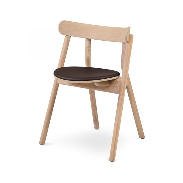 Oaki Dining Chair with Upholstered Seat