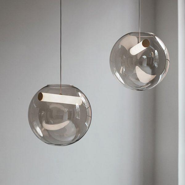 Reveal Pendant Light in Brass Matt and Opal White