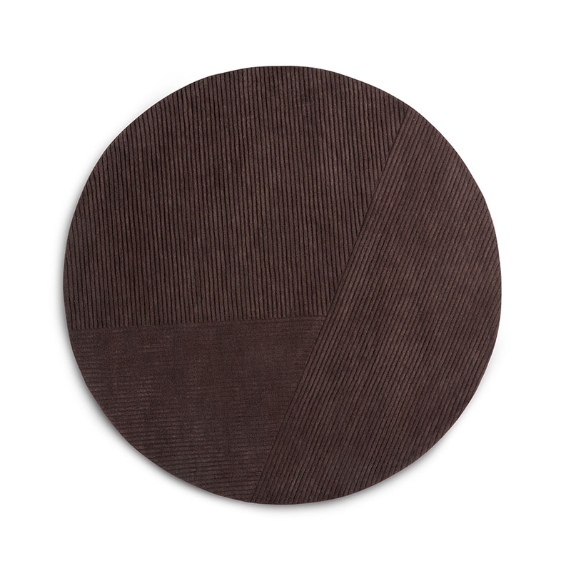 Northern Row Circular Rug by Studio Terhedebrügge Olson and Baker - Designer & Contemporary Sofas, Furniture - Olson and Baker showcases original designs from authentic, designer brands. Buy contemporary furniture, lighting, storage, sofas & chairs at Olson + Baker.