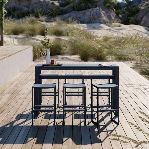 Eos 180x62cm Rectangular Bar Dining Table