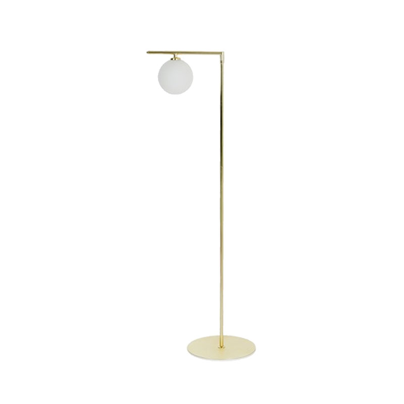 Aromas Endo Floor Lamp in Matt Gold by Pepe Fornas Olson and Baker - Designer & Contemporary Sofas, Furniture - Olson and Baker showcases original designs from authentic, designer brands. Buy contemporary furniture, lighting, storage, sofas & chairs at Olson + Baker.