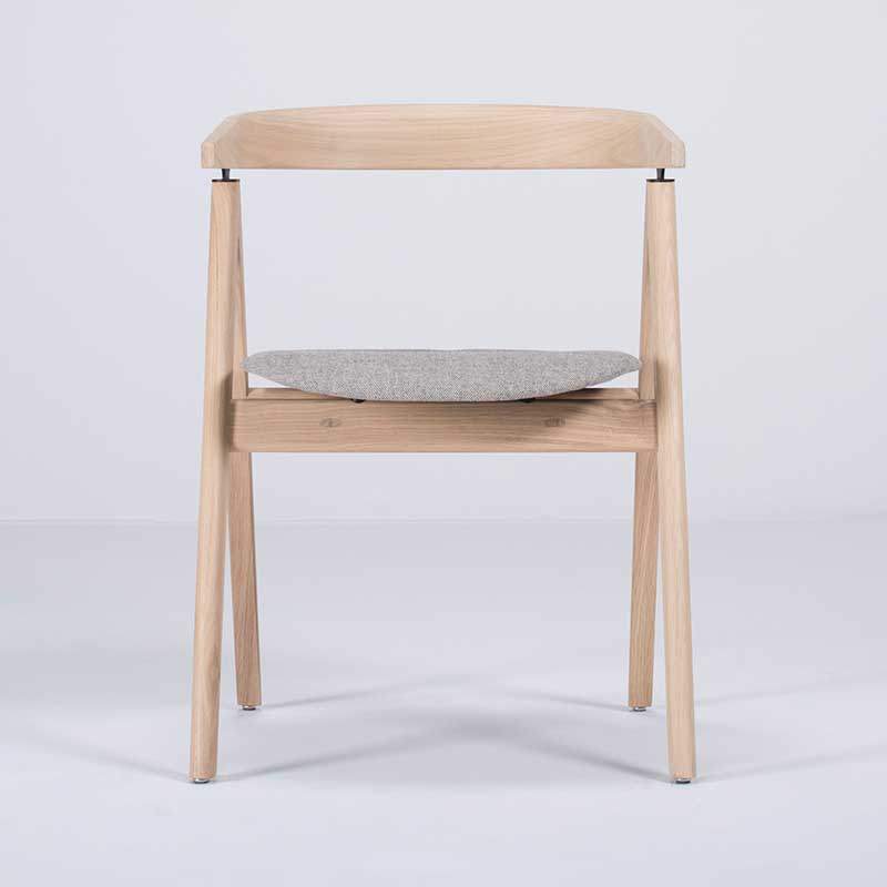 Gazzda_Ava_Chair_by_Salih_Teskeredzic_Gazzda_-_1015_White_Solid_Oak_Oiled_with_MLF02_Archway_Main_Line_Flax_Seat_02 Olson and Baker - Designer & Contemporary Sofas, Furniture - Olson and Baker showcases original designs from authentic, designer brands. Buy contemporary furniture, lighting, storage, sofas & chairs at Olson + Baker.