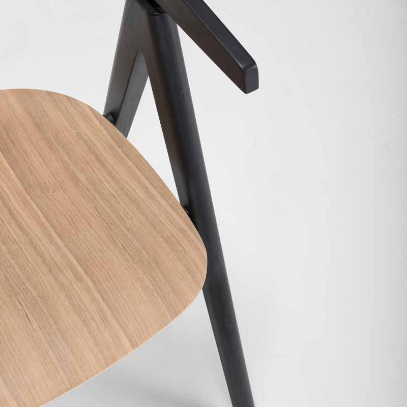 Gazzda_Ava_Chair_by_Salih_Teskeredzic_Gazzda_-_7021_Charcoal_Solid_Oak_Lacquered_with_Oak_Veneer_Seat_03 Olson and Baker - Designer & Contemporary Sofas, Furniture - Olson and Baker showcases original designs from authentic, designer brands. Buy contemporary furniture, lighting, storage, sofas & chairs at Olson + Baker.