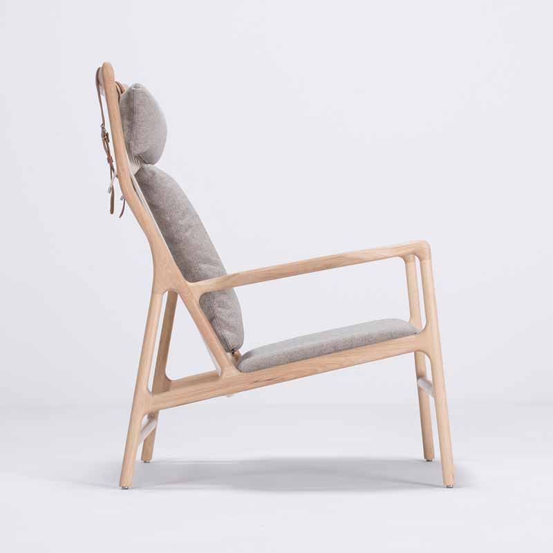 Gazzda_Dedo_Lounge_Chair_by_Salih_Teskeredzic_Gazzda_-_1015_White_Solid_Oak_Oiled_with_MLF02_Archway_Main_Line_Flax_Seat_02 Olson and Baker - Designer & Contemporary Sofas, Furniture - Olson and Baker showcases original designs from authentic, designer brands. Buy contemporary furniture, lighting, storage, sofas & chairs at Olson + Baker.