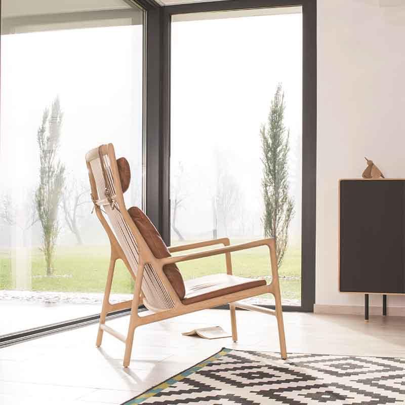 Gazzda_Dedo_Lounge_Chair_by_Salih_Teskeredzic_Lifeshot_02 Olson and Baker - Designer & Contemporary Sofas, Furniture - Olson and Baker showcases original designs from authentic, designer brands. Buy contemporary furniture, lighting, storage, sofas & chairs at Olson + Baker.