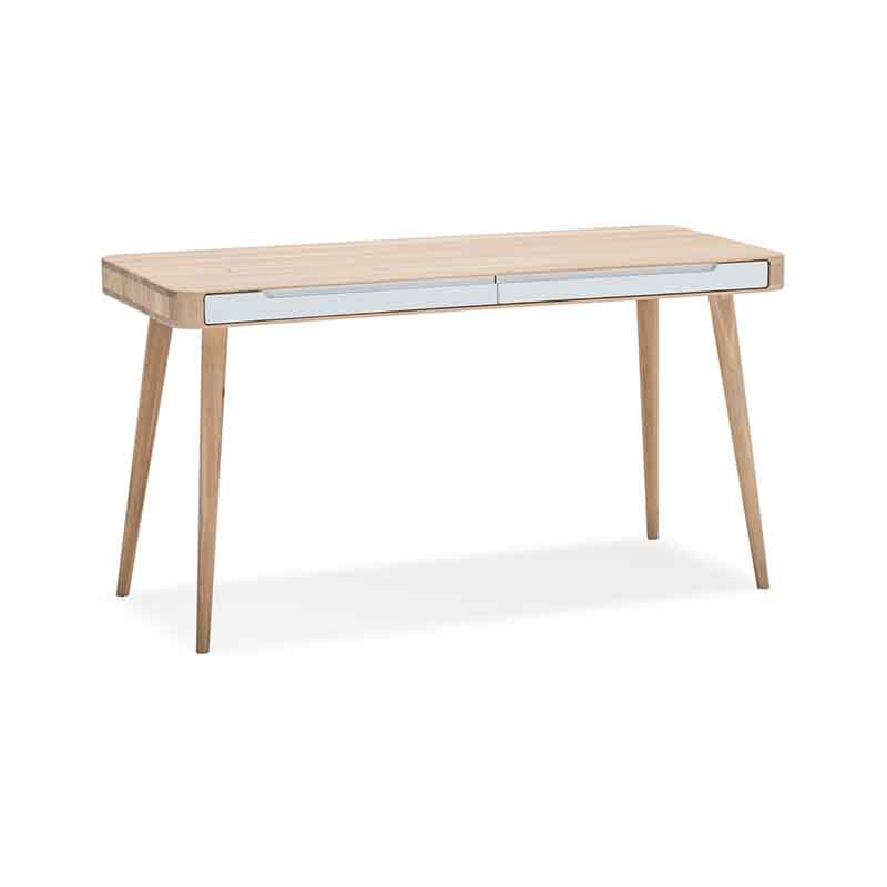Gazzda Ena Desk in Solid Oak and MDF White by Salih Teskeredzic Olson and Baker - Designer & Contemporary Sofas, Furniture - Olson and Baker showcases original designs from authentic, designer brands. Buy contemporary furniture, lighting, storage, sofas & chairs at Olson + Baker.